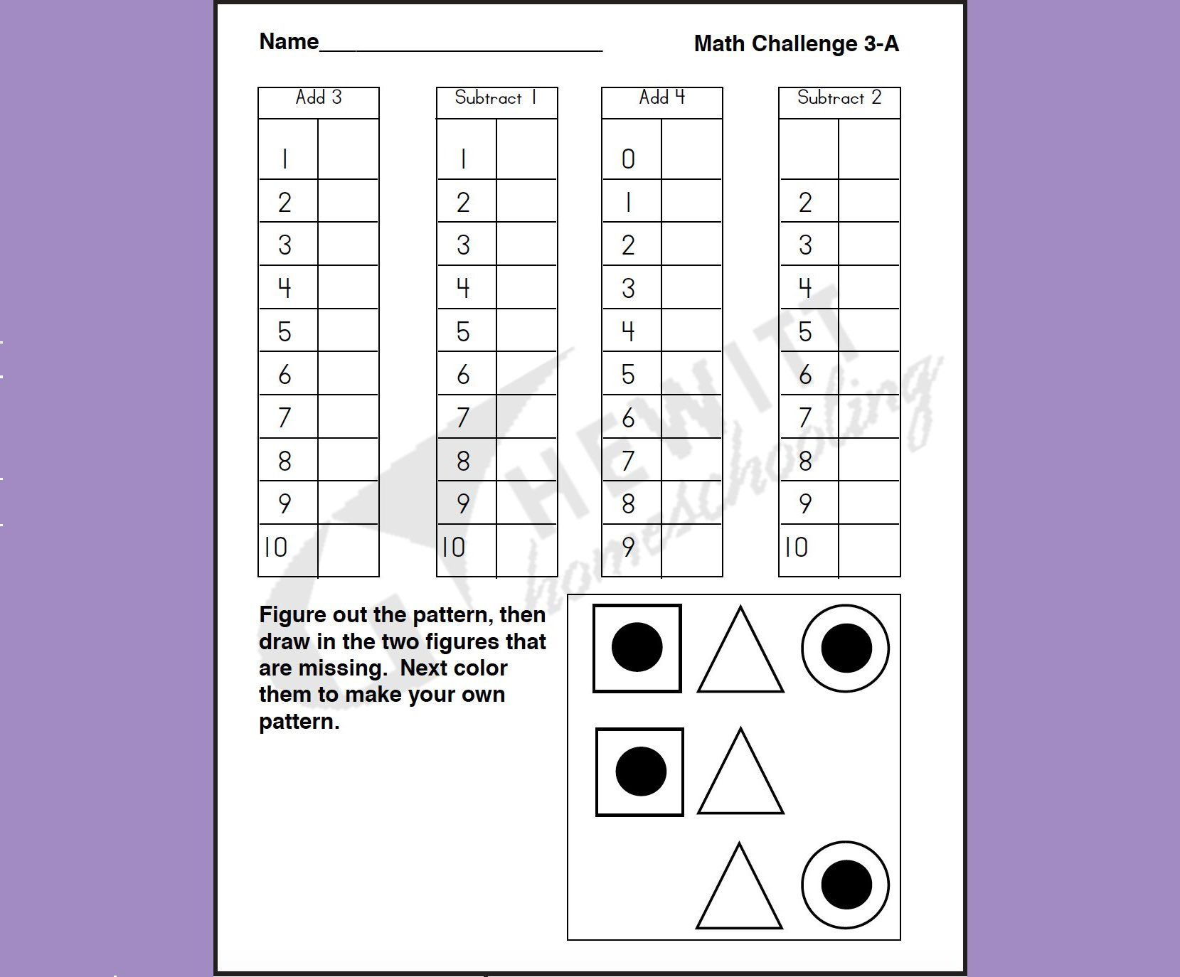Beginning A Worksheet Math Is One Area In Which Workpages Can Be Helpful For Providing Repetition A Means Of Clarif Education Guide Teaching Tips Worksheets [ 1374 x 1659 Pixel ]