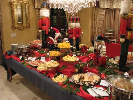 Nutcracker Buffet Decorations Christmas Buffet Tablescapes