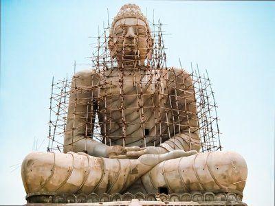 """# Peace under construction #"" by bbsusheelkumar. Taken in India #bestof2012 http://www.travellerspoint.com/users/bbsusheelkumar/"