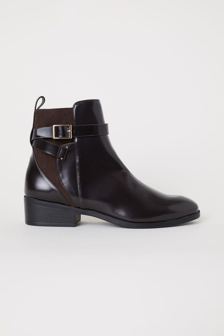 af4214d7fda Boots with Straps - Dark brown - Ladies