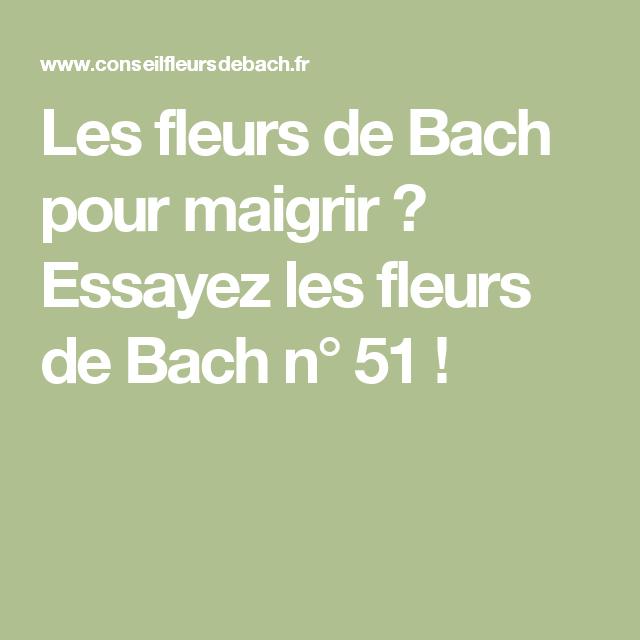 Les Fleurs De Bach Pour Maigrir Essayez Les Fleurs De Bach N 51