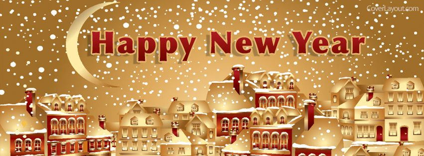 happy new year snow fall facebook cover coverlayoutcom