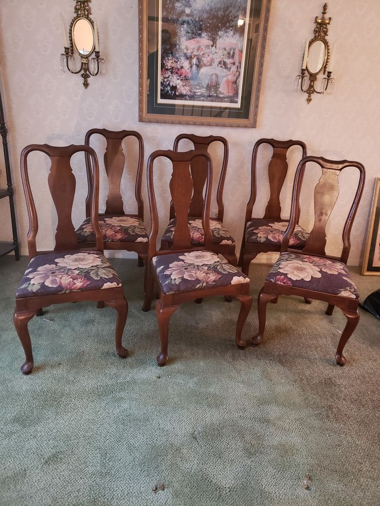 Kling Colonial Queen Anne Style Solid Cherry Dining Side Chair 31 6121 Queenanne Kling Side Chairs Dining Side Chairs Chair