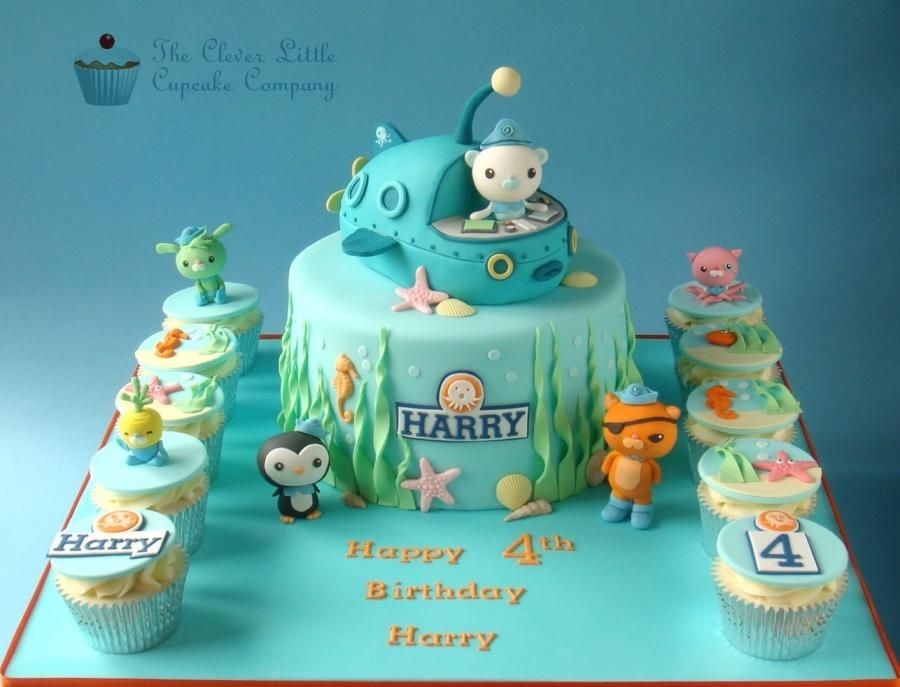 Magnificent 55 Best Octonauts Cakes Images Octonauts Party Cupcake Cakes Cake Funny Birthday Cards Online Necthendildamsfinfo