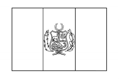 Peruvian Flag Coloring Page In 2020 Peru Flag Flag Coloring