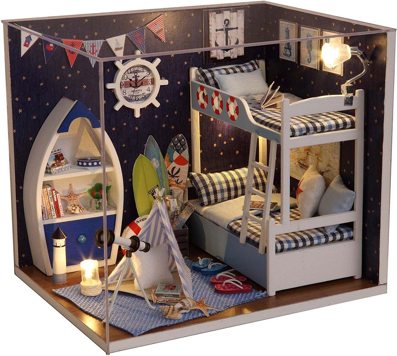 Cuteroom Wood Dollhouse Miniature Kit DIY Doll House Room With Furniture  Cover Toy Artwork Gift. KaufladenPuppenstubePuppenhausmöbel ...