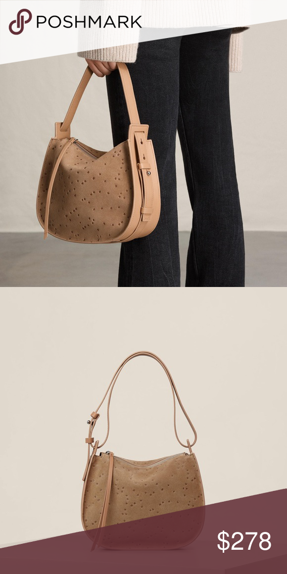 dacad6745d8 ✨SALE✨ All Saints Echo star mini suede hobo bag Brand new with tags.  Calling all street-style stars: this heavenly bag is the perfect way to  pull together ...