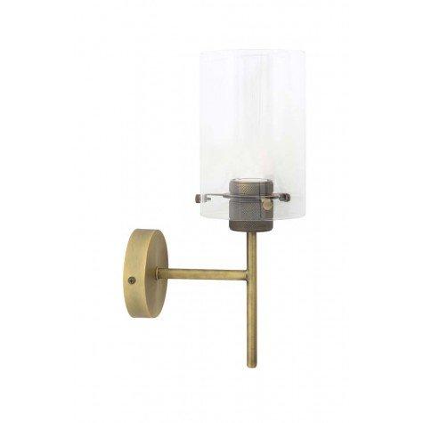 Wandleuchte 22x12x35 cm VANCOUVER antbronze-Glas - Light  Living - badezimmer accessoires holz