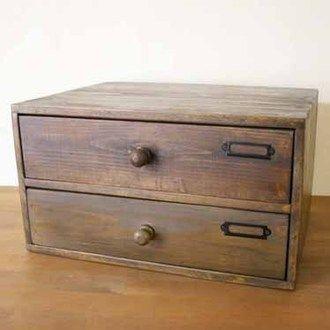 wooden drawer desk