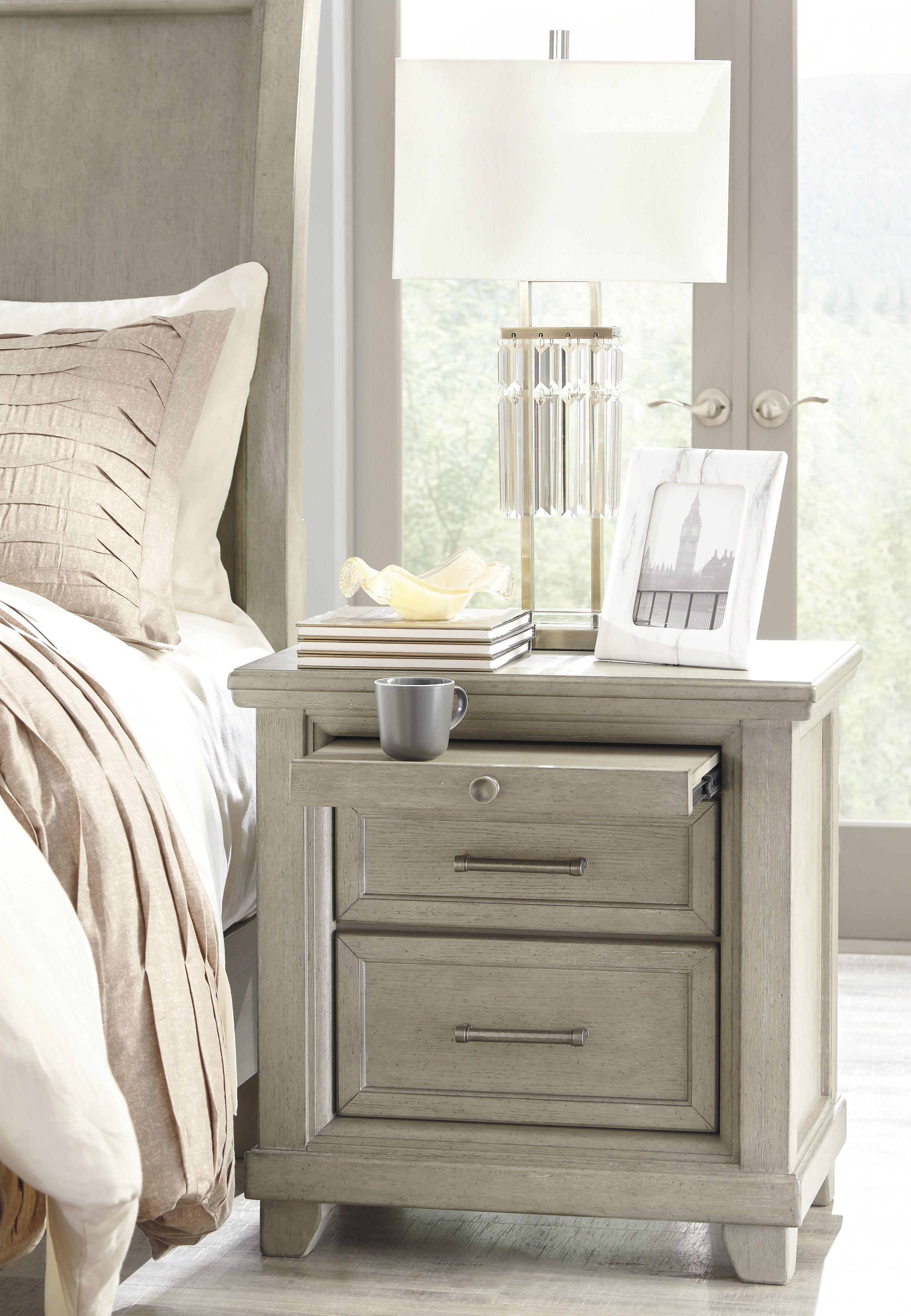 Liberty Bayside Bedroom White Panel Bedroom Set: Chapstone Two Drawer Nightstand