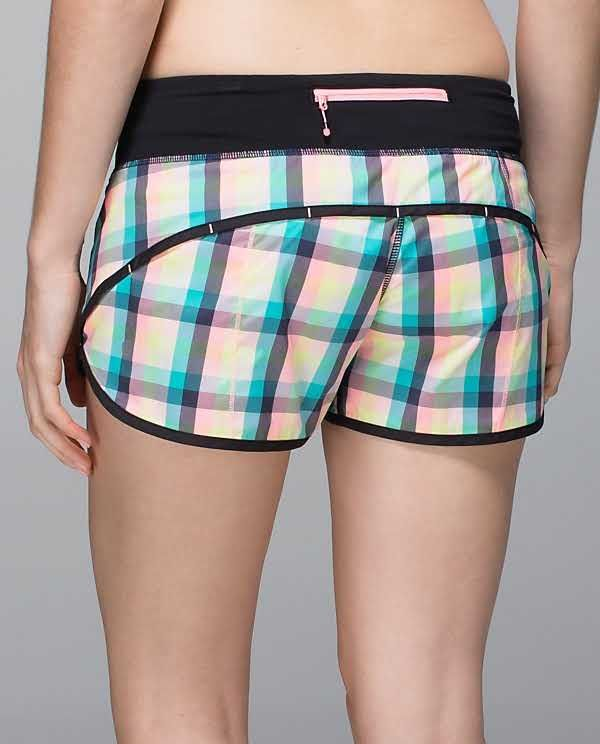 d5a42927f Run: Speed Short | lululemon athletica | color: wee wheezy check bleached  coral cadet