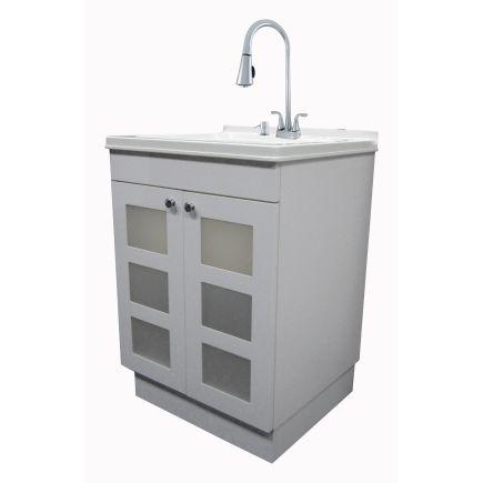 Unique White Laundry Sink Cabinet