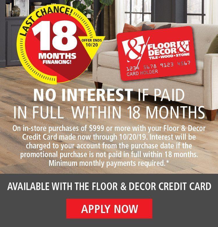 Floor Decor Credit Card Apply