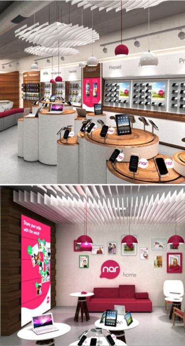 Telecommunication Room Design: Innovative New Retail Concept For Nar Mobile Telecom In