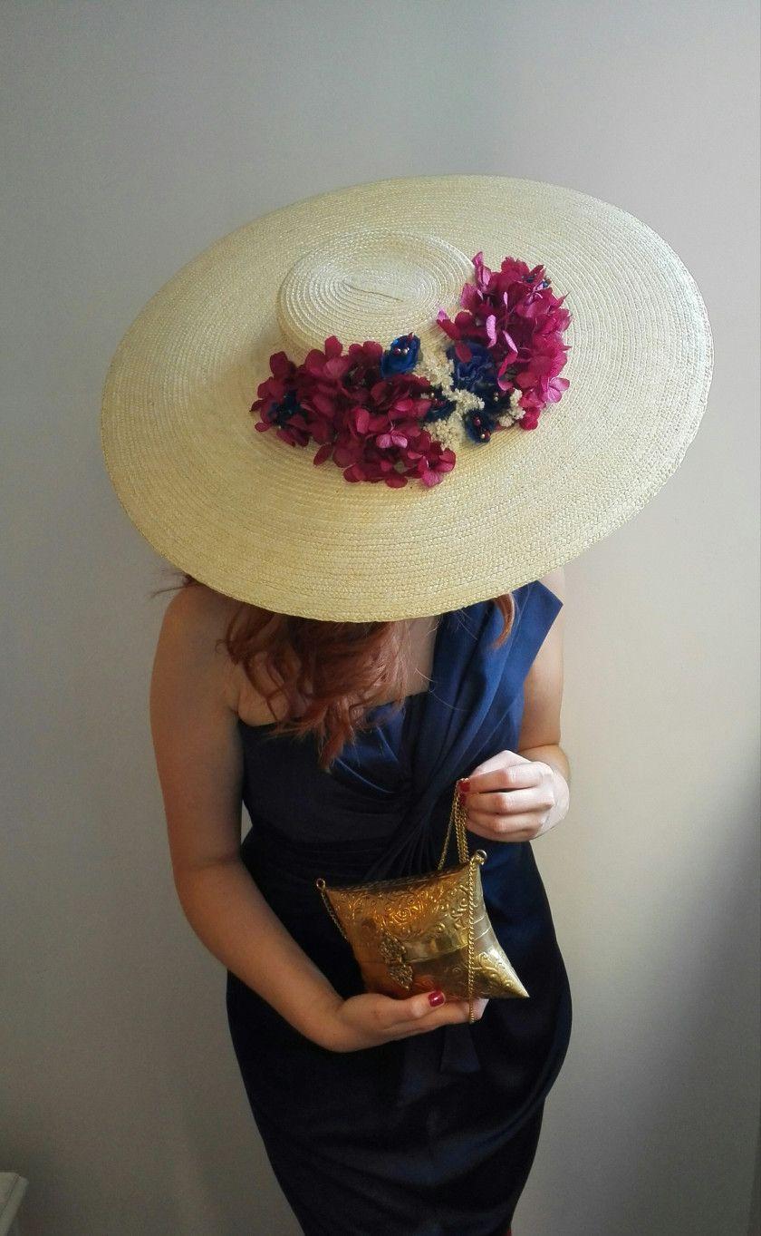 Pamela Miss Daisy pamelas canotier invitada perfecta hortensias preservadas 70f7aabd397
