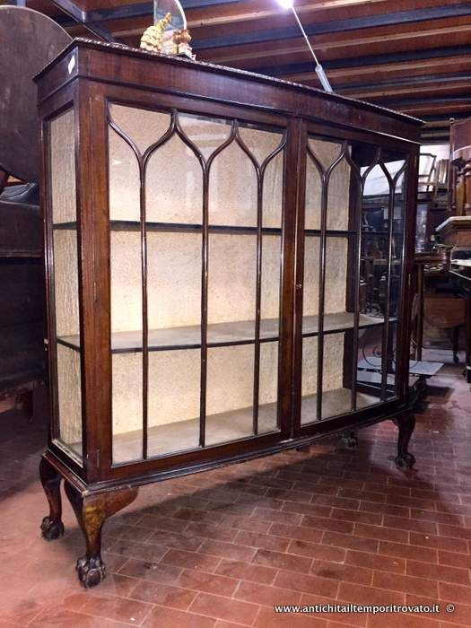 Mobili antichi vetrine vetrina inglese in mogano vetrina inglese piedi mossi immagine n 1 - Mobili antichi colorati ...