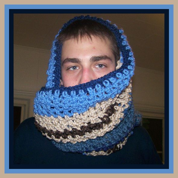 scarf ..I made from you tube video..circle infinaty scarf