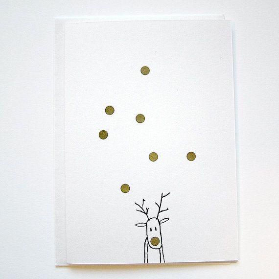 Photo of LETTERPRESS Christmas Card – RUDOLF