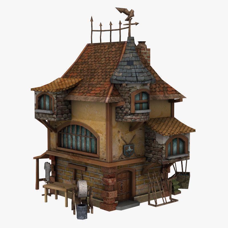 Medieval Building 3d Model Medieval Cool Tree Houses Building