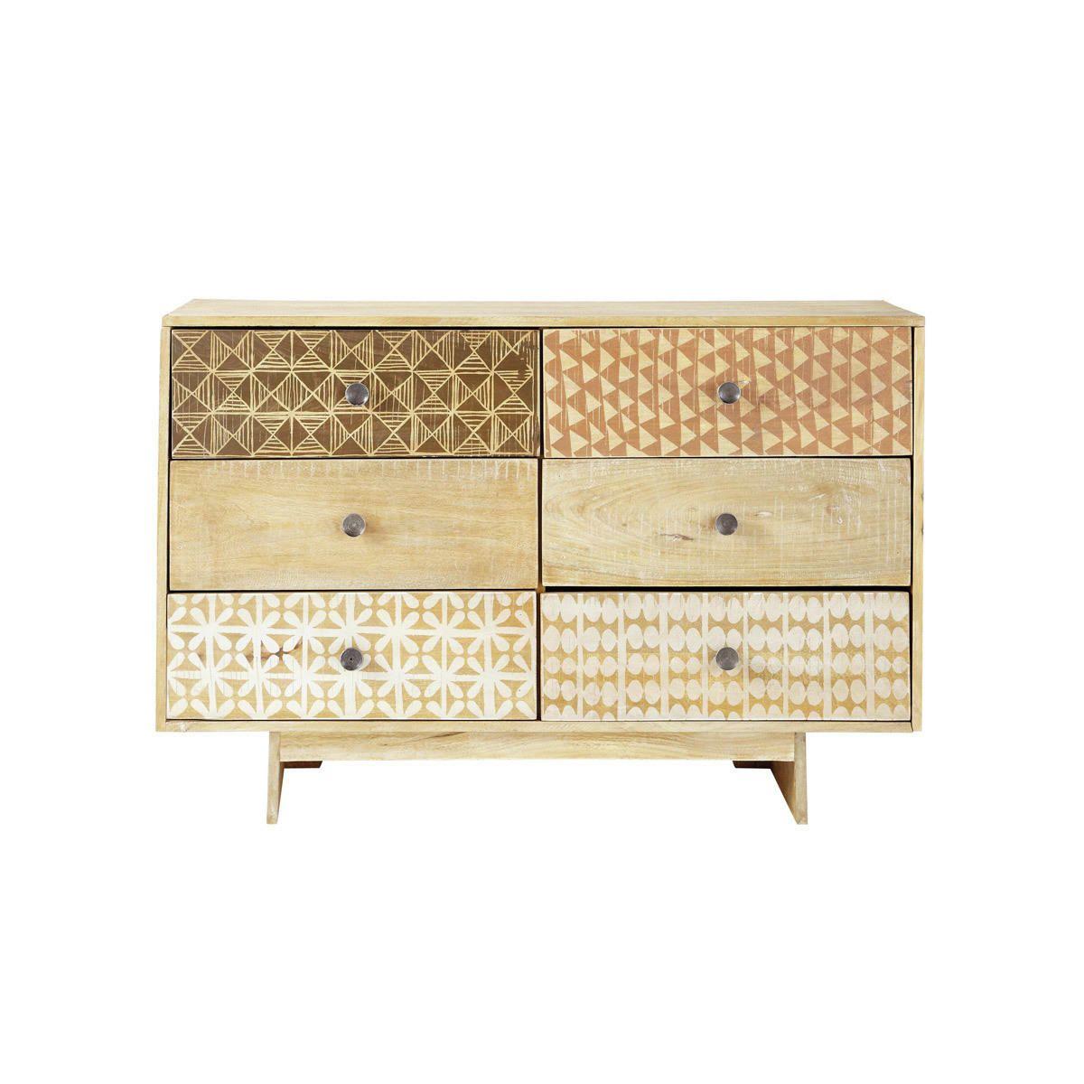 6-drawer dresser with designs - Serengeti Serengeti