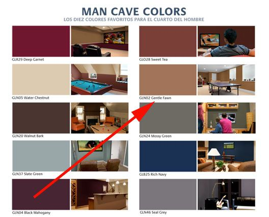 Gentle Fawn Vital To Home Depot S Man Cave Paint Collection Man Cave Colors Man Cave Paintings Man Cave Home Bar