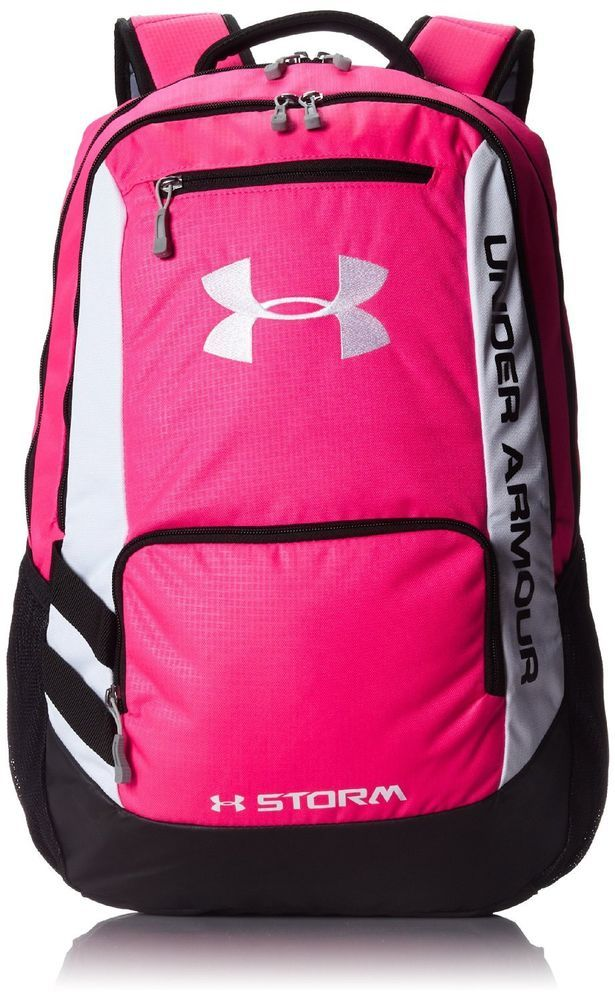 Under Armour UA Hustle Storm Backpack Book Bag Rugged BACK TO SCHOOL   Bookbag a56497d0f8a53