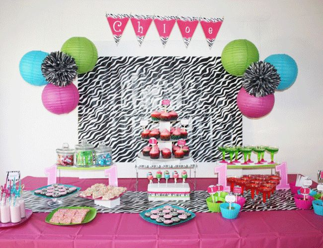 Hot pink teal and lime zebra party  sc 1 st  Pinterest & Zebra party: Chloe is 1 | Pinterest | Zebra party Hot pink and Limes