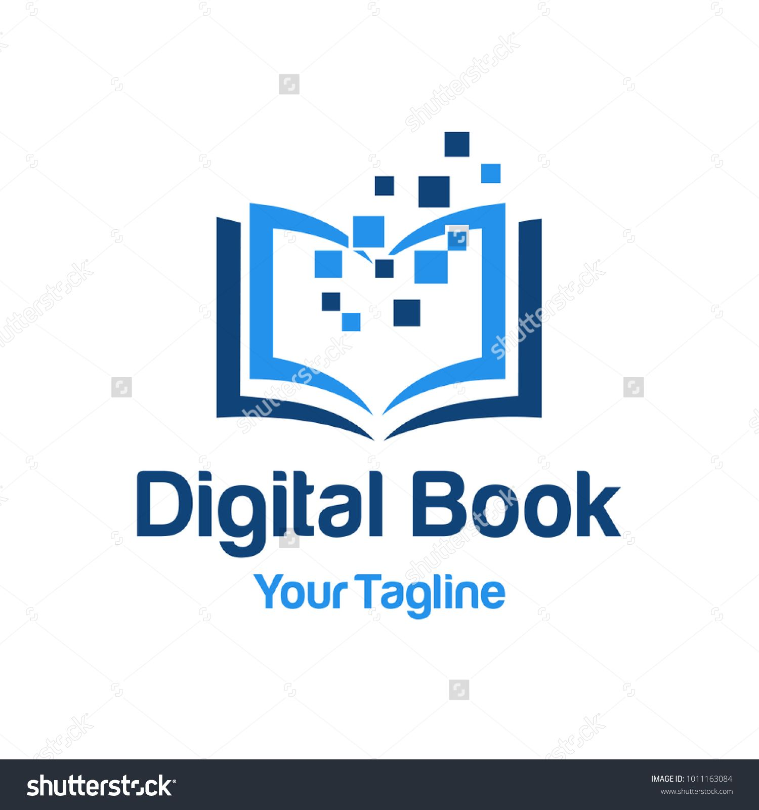 Digital Book Logo Template Book Logo Logo Templates Logos