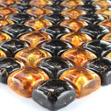 Glas Mosaik Fliesen On The Rocks Braun Gold Wohnung Pinterest - Mosaik fliesen braun gold