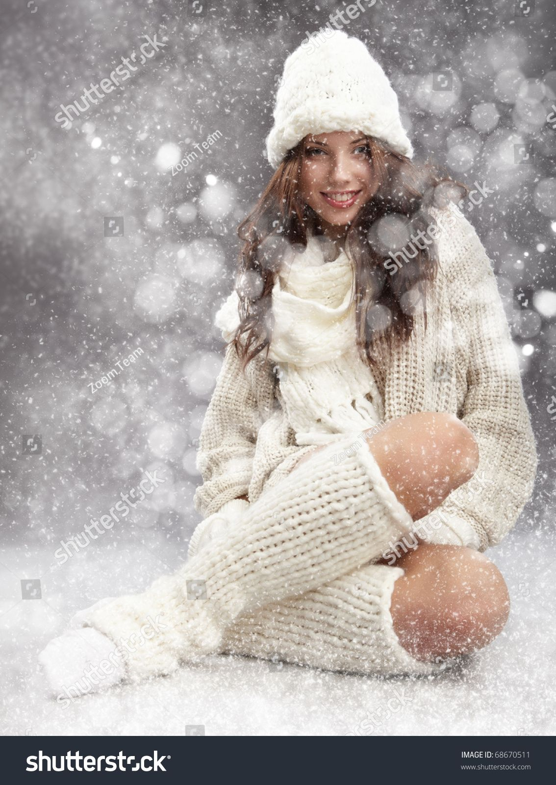 Winter woman on snow #Sponsored , #Affiliate, #Winter#woman#snow