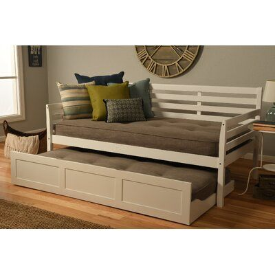 Ebern Designs Varley Twin Daybed With Trundle And Mattress Frame