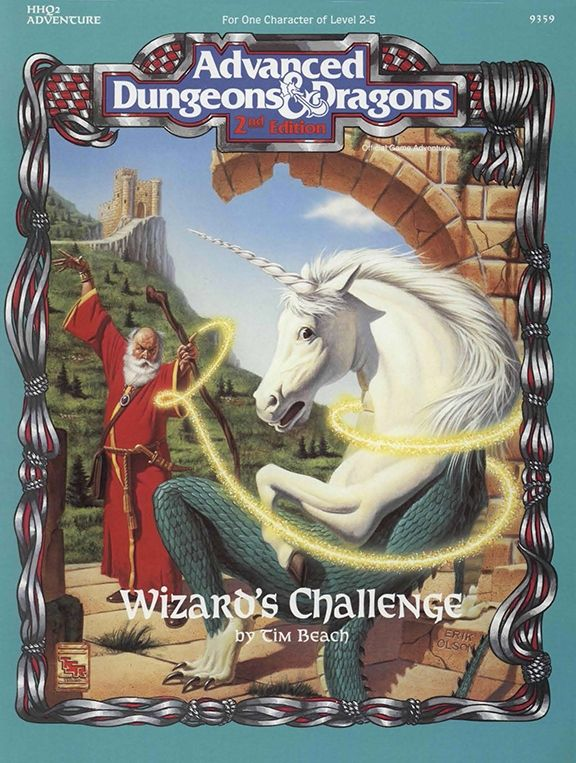 HHQ2 Wizard's Challenge (2e) | Book cover and interior art for