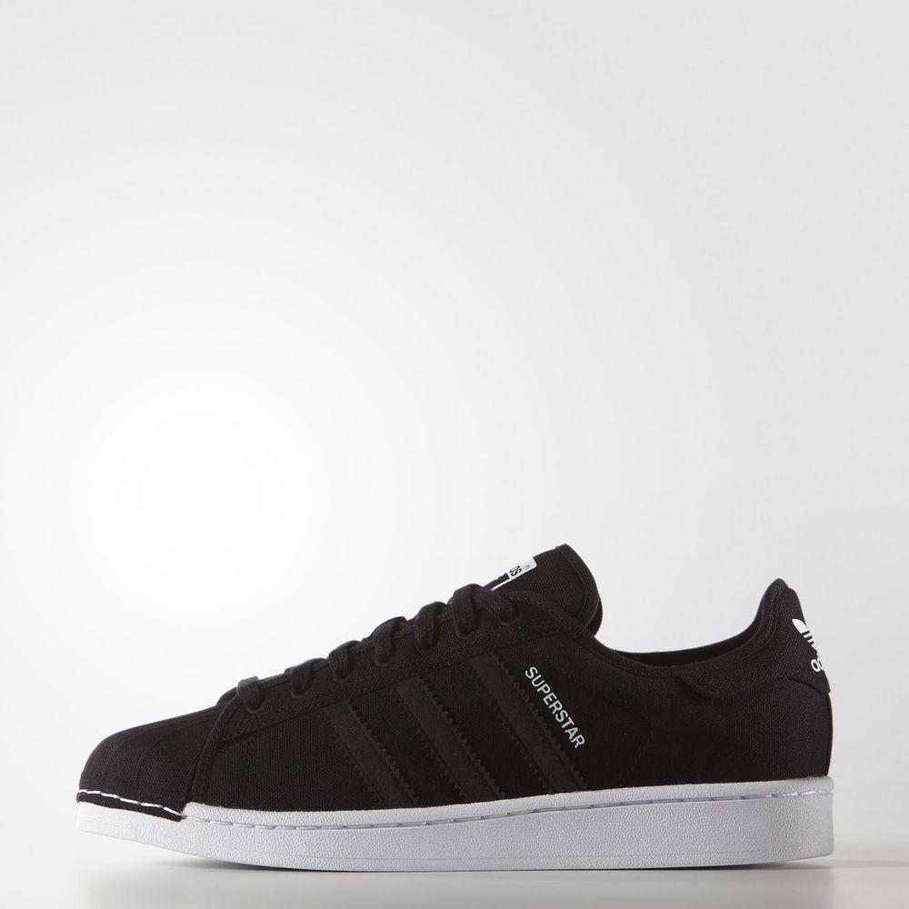 mens adidas originals superstar festival schwarzen lässig ausbilder uk