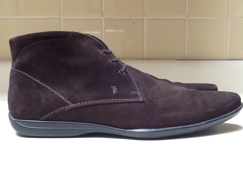 TOD's Mens Sz 13M US Dark Chocolate Brown Suede Desert Chukka Ankle Boots  EUC #Tods