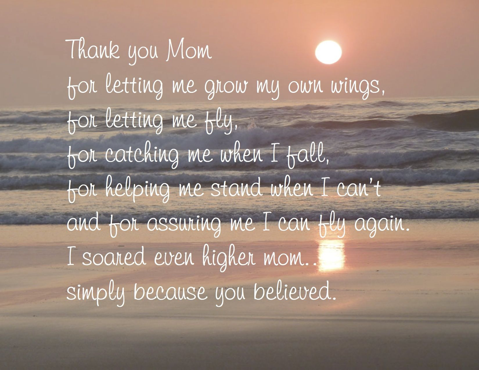 Thank You Mom! Quotes Pinterest Christian families
