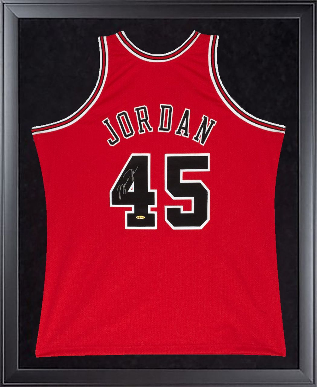 new style 86a55 cb698 MICHAEL JORDAN Signed Bulls Mitchell & Ness 45 Authentic ...