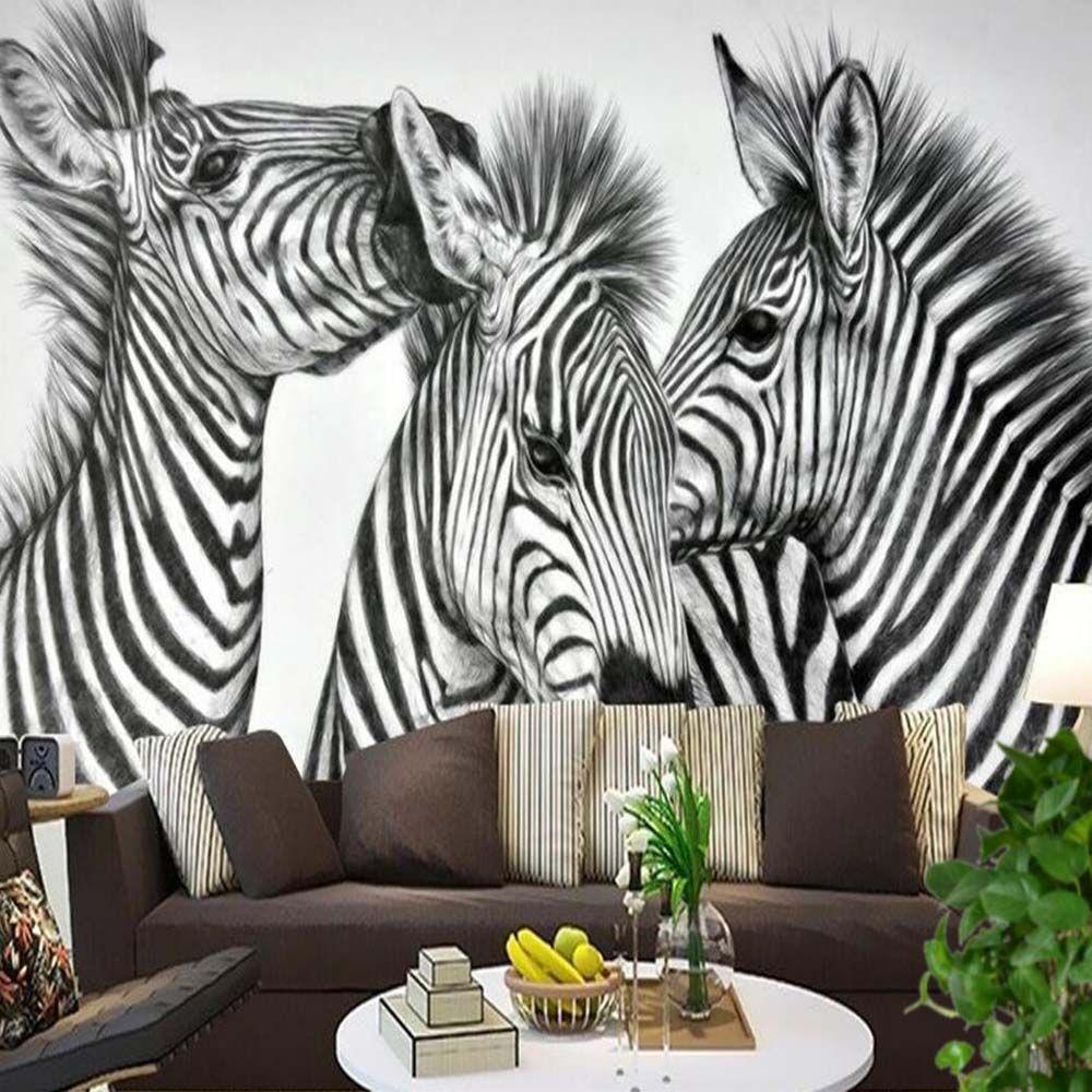 Zebra pinto animal photo wall mural living walls wallpaper 3d zebra pinto animal photo wall mural living walls wallpaper 3d embossed wall paper papel de parede amipublicfo Gallery