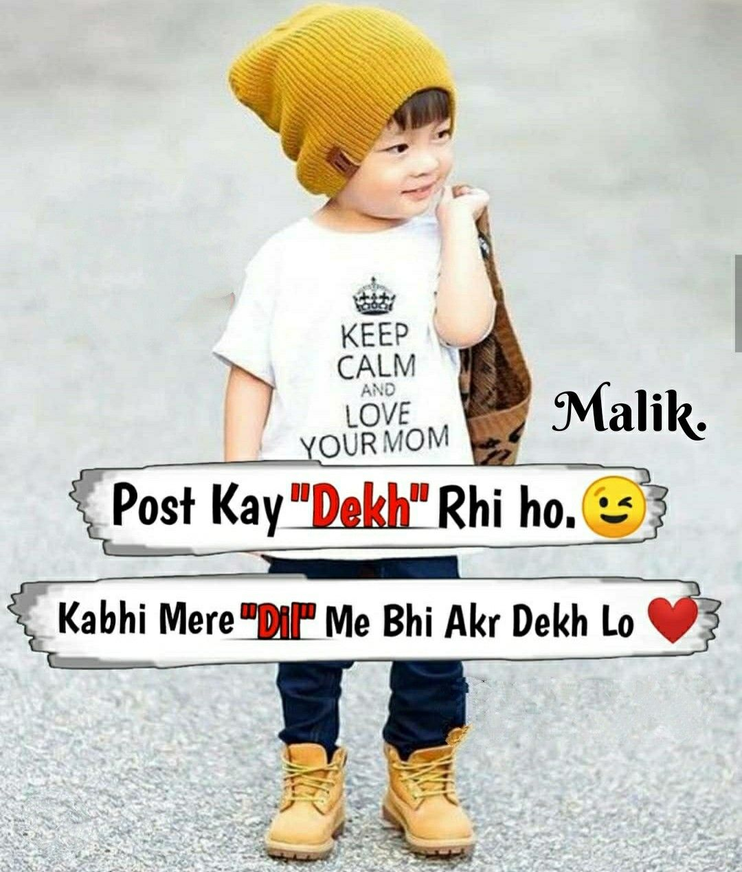 Malik Sunday Special Cute Baby Quotes Funny Quotes For Kids Funny Attitude Quotes