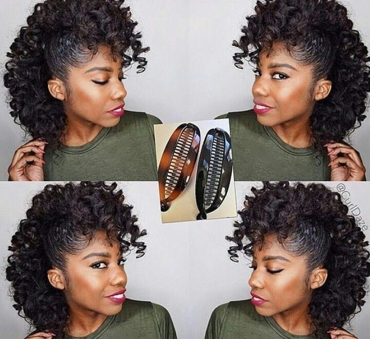Banana Clip Protective Hairstyles For Natural Hair Mohawk Styles