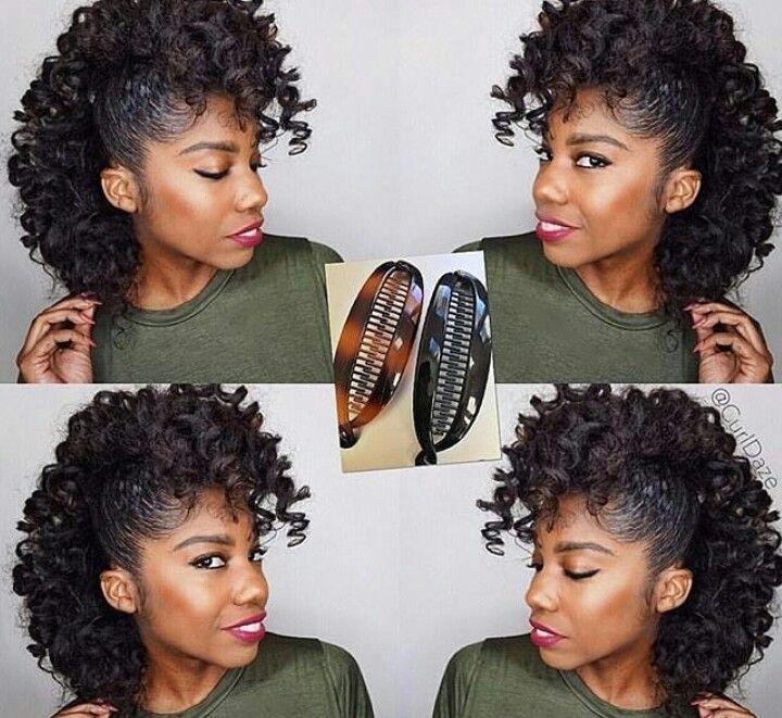 Banana Clip Curly Hair Styles Natural Hair Styles Hair Beauty