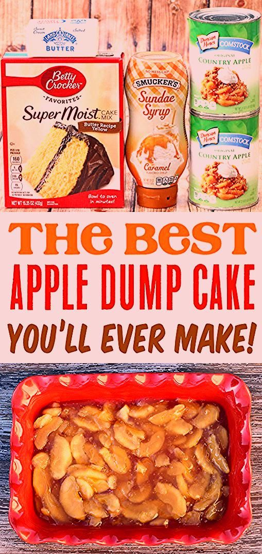 Photo of Apple Caramel Dump Cake Recipe with 4 Ingredients! – The Frugal Girls