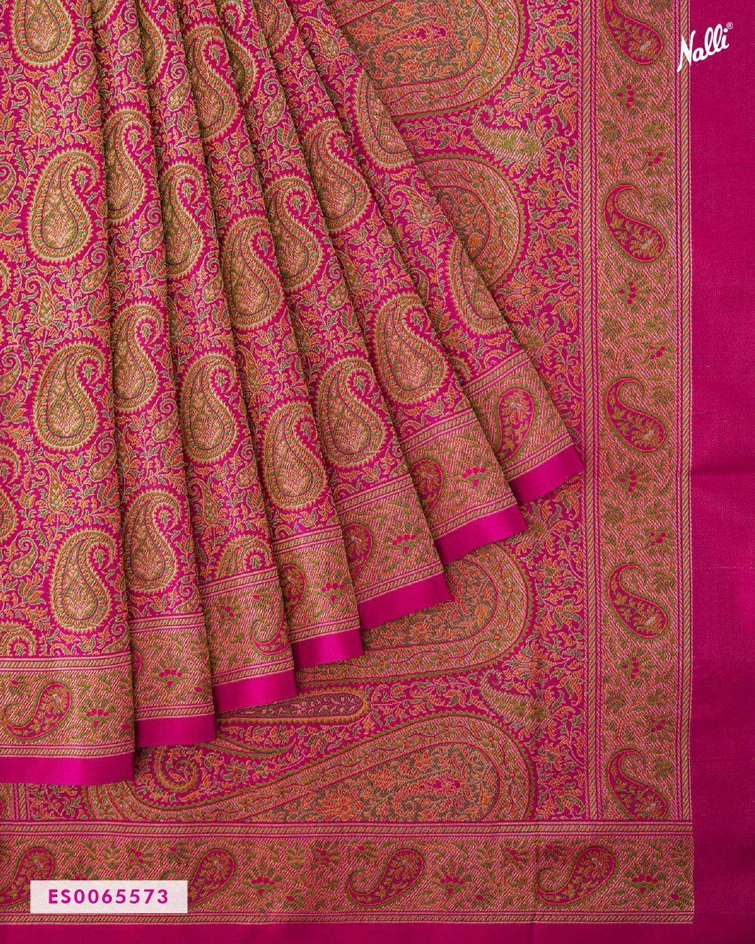 Pink Banarasi Tanchoi Silk Saree | Kanjivaram sarees silk, Saree trends,  Pure silk sarees