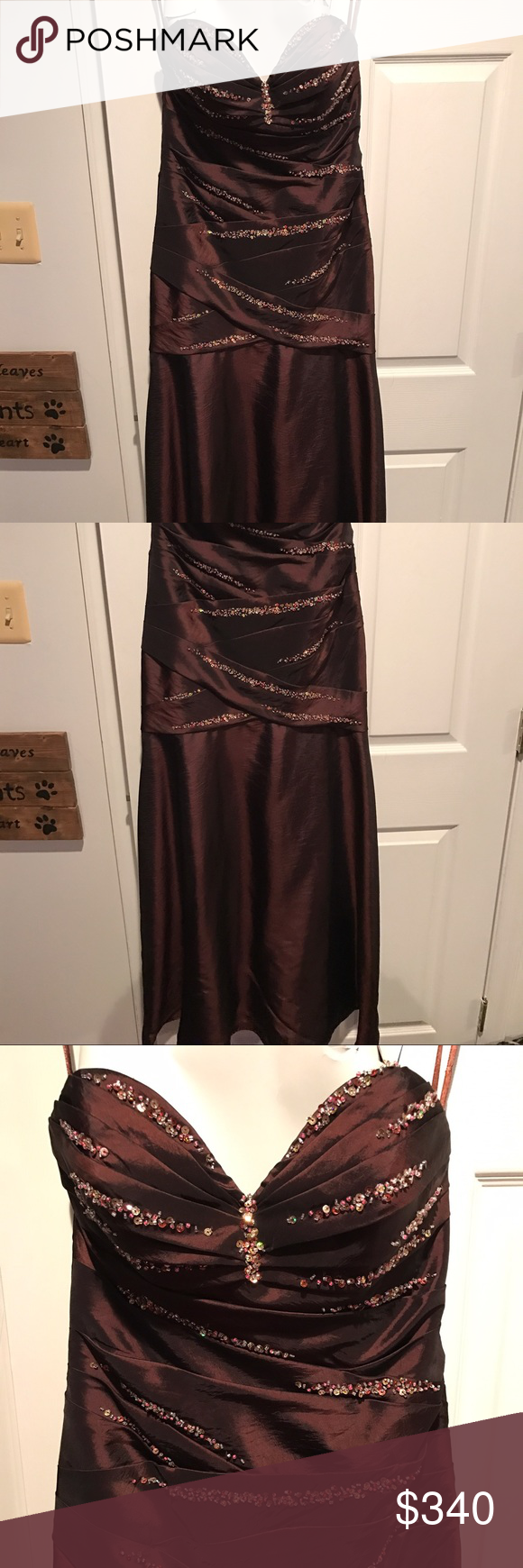 Gown prom mori lee dresses mori lee and chocolate brown