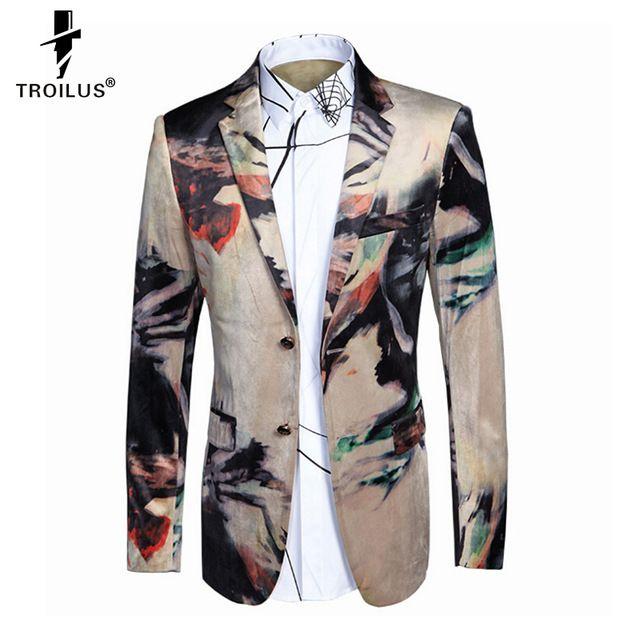 Troilus Luxury Blazer Men New Arrival Brand Suit Jacket Men Unique