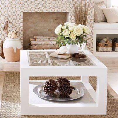 Bonita mesa de centro ideas para mi casa pinterest for Mesas de centro bonitas