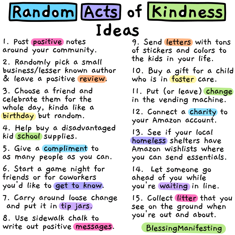 14+ 200 random acts of kindness inspirations