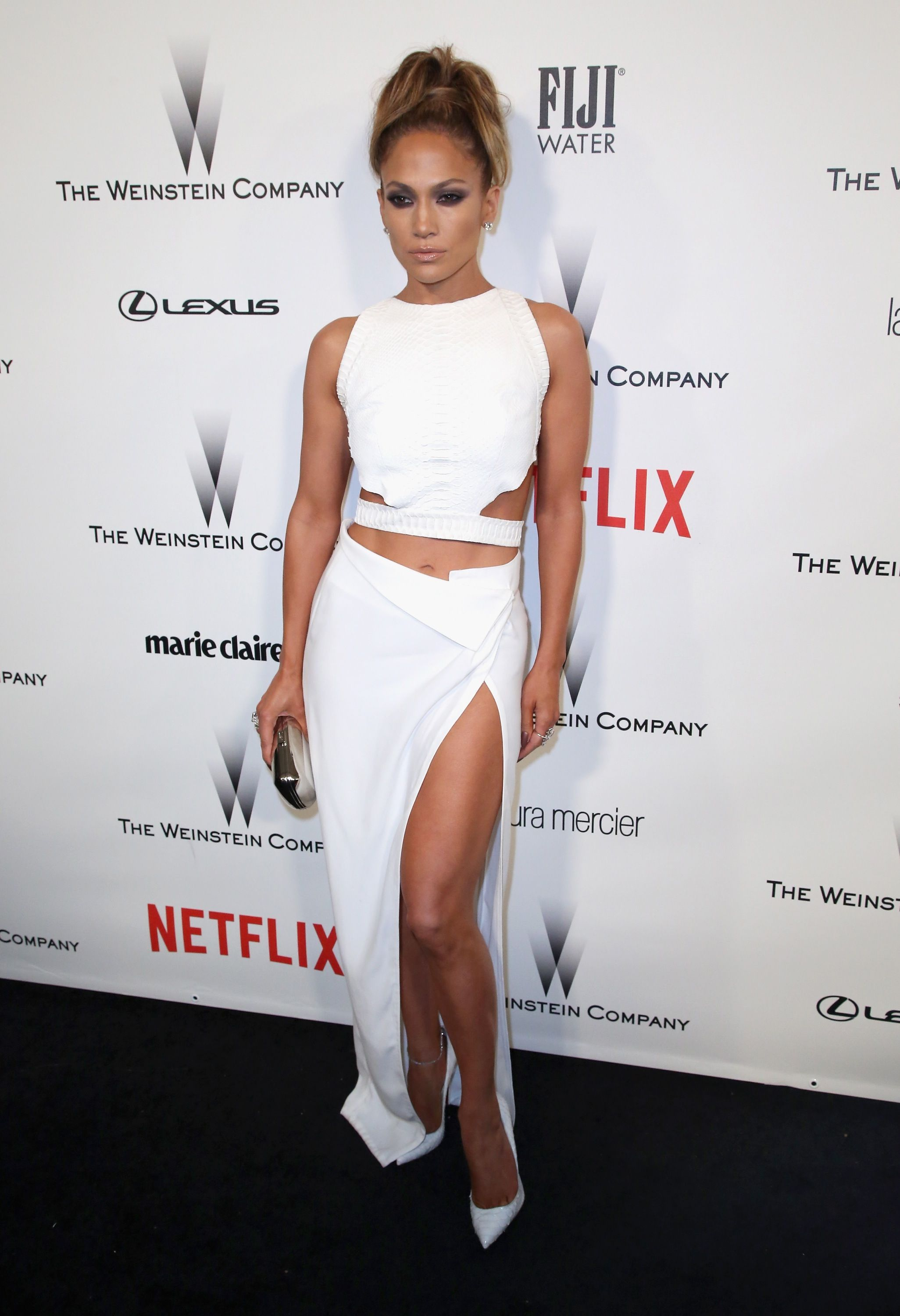 Jennifer lopez in amanda wakeley and christian louboutin at the