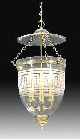 Hall Lantern With Greek Key Design