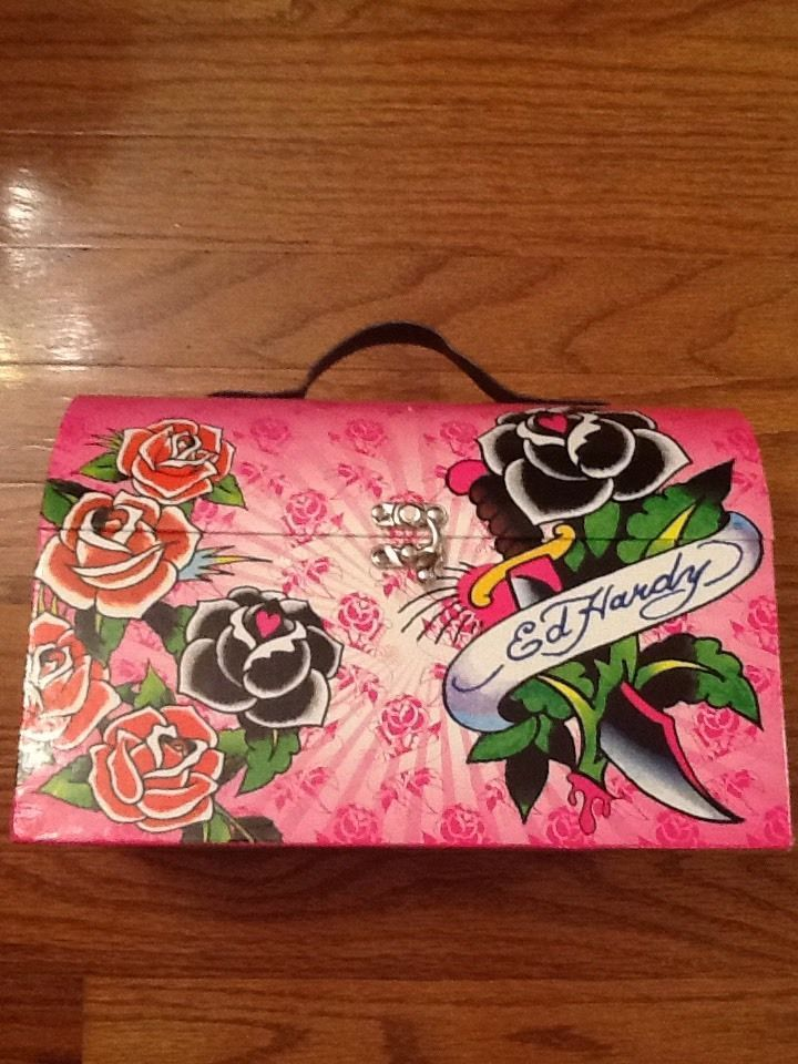 Ed Hardy Cosmetic Case Pink Edhardy Cosmetic Case Ed Hardy Pink