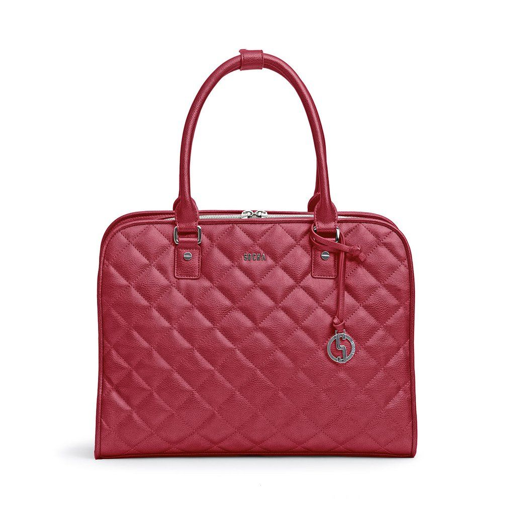 Socha Ella Quilted Laptop Tote 11-13.3  Dark Cherry   Laptop Bags ... : quilted laptop tote - Adamdwight.com